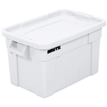 """28"""" x 18"""" x 15"""" White Tote with Lid for Storage and Transport"""