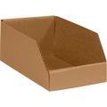 "6"" x 12"" x 4 1/2"" Kraft  Open Top Bin Boxes - Fits 12"" Shelf"