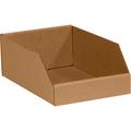 "8"" x 18"" x 4 1/2"" Kraft  Open Top Bin Boxes - Fits 18"" Shelf"