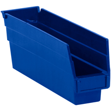 "11 5/8"" x 2 3/4"" x 4"" Blue  Plastic Shelf Bin Boxes"