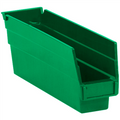 "11 5/8"" x 2 3/4"" x 4"" - Green  Plastic Shelf Bin Boxes"