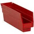 "11 5/8"" x 2 3/4"" x 4"" Red  Plastic Shelf Bin Boxes"