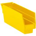 "11 5/8"" x 2 3/4"" x 4"" - Yellow  Plastic Shelf Bins"