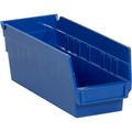 "11 5/8"" x 4 1/8"" x 4"" Blue  Plastic Shelf Bin Boxes"