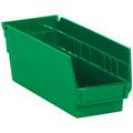 "11 5/8"" x 4 1/8"" x 4"" Green  Plastic Shelf Bin Boxes"