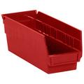 "11 5/8"" x 4 1/8"" x 4"" Red  Plastic Shelf Bin Boxes"