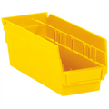 "11 5/8"" x 4 1/8"" x 4"" Yellow  Plastic Shelf Bin Boxes"