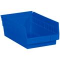 "11 5/8"" x 6 5/8"" x 4"" Blue  Plastic Shelf Bin Boxes"
