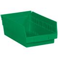 "11 5/8"" x 6 5/8"" x 4"" Green  Plastic Shelf Bin Boxes"