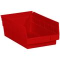 "11 5/8"" x 6 5/8"" x 4"" Red  Plastic Shelf Bin Boxes"