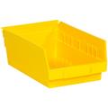 "11 5/8"" x 6 5/8"" x 4"" Yellow  Plastic Shelf Bin Boxes"