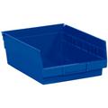 "11 5/8"" x 8 3/8"" x 4"" Blue  Plastic Shelf Bin Boxes"