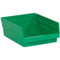 "11 5/8"" x 8 3/8"" x 4"" Green  Plastic Shelf Bin Boxes"