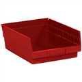 "11 5/8"" x 8 3/8"" x 4"" Red  Plastic Shelf Bin Boxes"