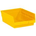 "11 5/8"" x 8 3/8"" x 4"" Yellow  Plastic Shelf Bin Boxes"