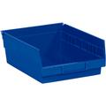 "11 5/8"" x 11 1/8"" x 4"" Blue  Plastic Shelf Bin Boxes"