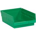 "11 5/8"" x 11 1/8"" x 4"" Green  Plastic Shelf Bin Boxes"