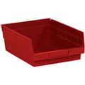 "11 5/8"" x 11 1/8"" x 4"" Red  Plastic Shelf Bin Boxes"