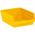 "11 5/8"" x 11 1/8"" x 4"" Yellow  Plastic Shelf Bin Boxes"