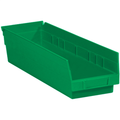 "17 7/8"" x 4 1/8"" x 4"" Green  Plastic Shelf Bin Boxes"