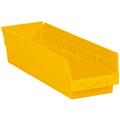 "17 7/8"" x 4 1/8"" x 4"" Yellow  Plastic Shelf Bin Boxes"