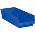 "17 7/8"" x 6 5/8"" x 4"" Blue  Plastic Shelf Bin Boxes"