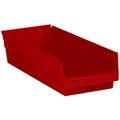 "17 7/8"" x 6 5/8"" x 4"" Red  Plastic Shelf Bin Boxes"