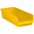 "17 7/8"" x 6 5/8"" x 4"" Yellow  Plastic Shelf Bin Boxes"