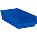 "17 7/8"" x 8 3/8"" x 4"" Blue  Plastic Shelf Bin Boxes"