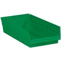 "17 7/8"" x 8 3/8"" x 4"" Green  Plastic Shelf Bin Boxes"