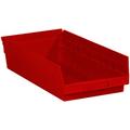"17 7/8"" x 8 3/8"" x 4"" Red  Plastic Shelf Bin Boxes"