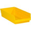 "17 7/8"" x 8 3/8"" x 4"" Yellow  Plastic Shelf Bin Boxes"