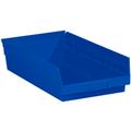 "17 7/8"" x 11 1/8"" x 4"" Blue  Plastic Shelf Bin Boxes"