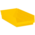 "17 7/8"" x 11 1/8"" x 4"" Yellow  Plastic Shelf Bin Boxes"