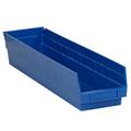 "23 5/8"" x 4 1/8"" x 4"" Blue  Plastic Shelf Bin Boxes"