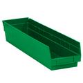 "23 5/8"" x 4 1/8"" x 4"" Green  Plastic Shelf Bin Boxes"