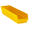 "23 5/8"" x 4 1/8"" x 4"" Yellow  Plastic Shelf Bin Boxes"