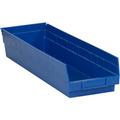 "23 5/8"" x 6 5/8"" x 4"" Blue  Plastic Shelf Bin Boxes"