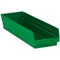 "23 5/8"" x 6 5/8"" x 4"" Green  Plastic Shelf Bin Boxes"