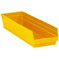 "23 5/8"" x 6 5/8"" x 4"" Yellow  Plastic Shelf Bin Boxes"