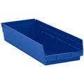"23 5/8"" x 8 3/8"" x 4"" Blue  Plastic Shelf Bin Boxes"