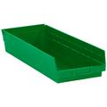 "23 5/8"" x 8 3/8"" x 4"" Green  Plastic Shelf Bin Boxes"