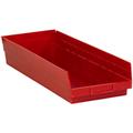 "23 5/8"" x 8 3/8"" 4"" Red  Plastic Shelf Bin Boxes"