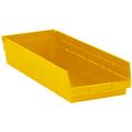 "23 5/8"" x 8 3/8"" x 4"" Yellow  Plastic Shelf Bin Boxes"
