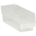 "11 5/8"" x 4 1/8"" x 4"" Clear  Plastic Shelf Bin Boxes"