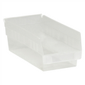 "11 5/8"" x 6 5/8"" x 4"" Clear  Plastic Shelf Bin Boxes"