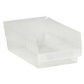 "11 5/8"" x 8 3/8"" x 4"" Clear  Plastic Shelf Bin Boxes"