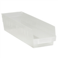 "17 7/8"" x 4 1/8"" x 4"" Clear  Plastic Shelf Bin Boxes"