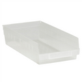 "17 7/8"" x 8 3/8"" x 4"" Clear  Plastic Shelf Bin Boxes"