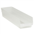 "23 5/8"" x 4 1/8"" x 4"" Clear  Plastic Shelf Bin Boxes"